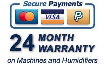 24 Month Warranty Pay securely with Visa, MasterCard or PayPal