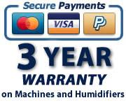3 Year machine warranty - Pay securely with Visa, MasterCard or PayPal