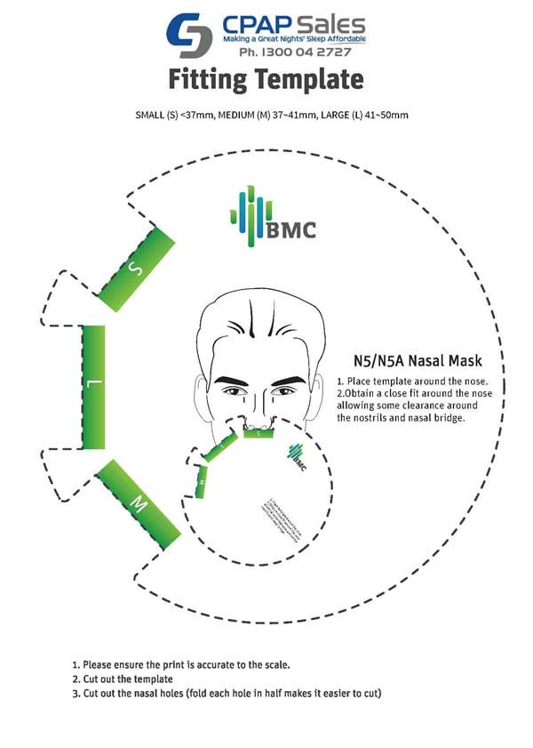Download and Print BMC N5 Mask Size Guide