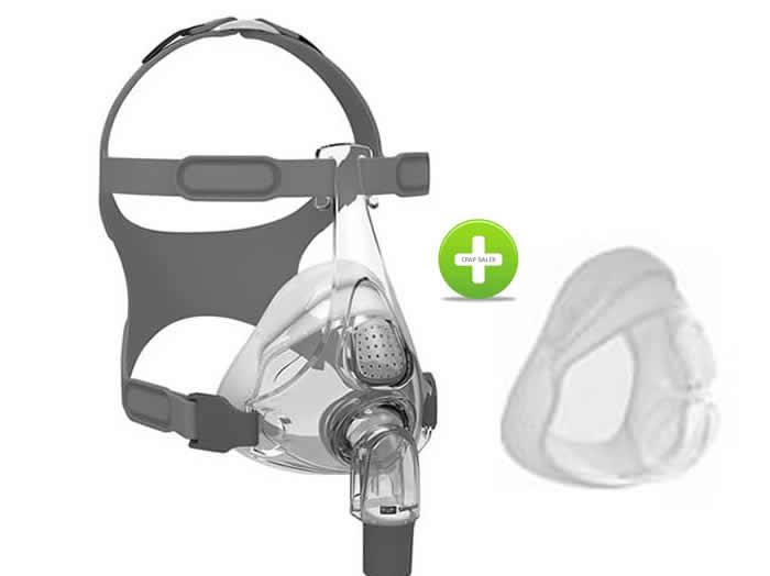 F&P Simplus Full Face CPAP Mask with Bonus extra Cushion