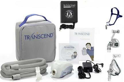 Transcend II Auto CPAP Machine - Starter Kit with P4 Battery + BMC Mask