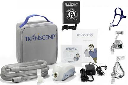 Transcend II CPAP Machine - Starter Kit with P8 Battery + BMC Mask