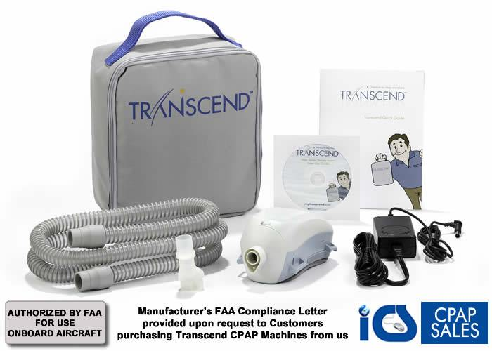 Transcend Travel CPAP Machine Kit - FAA approved as a medical portable electronic devices