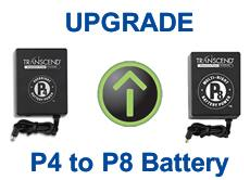 Upgrade Transcend P4 to P8 Battery